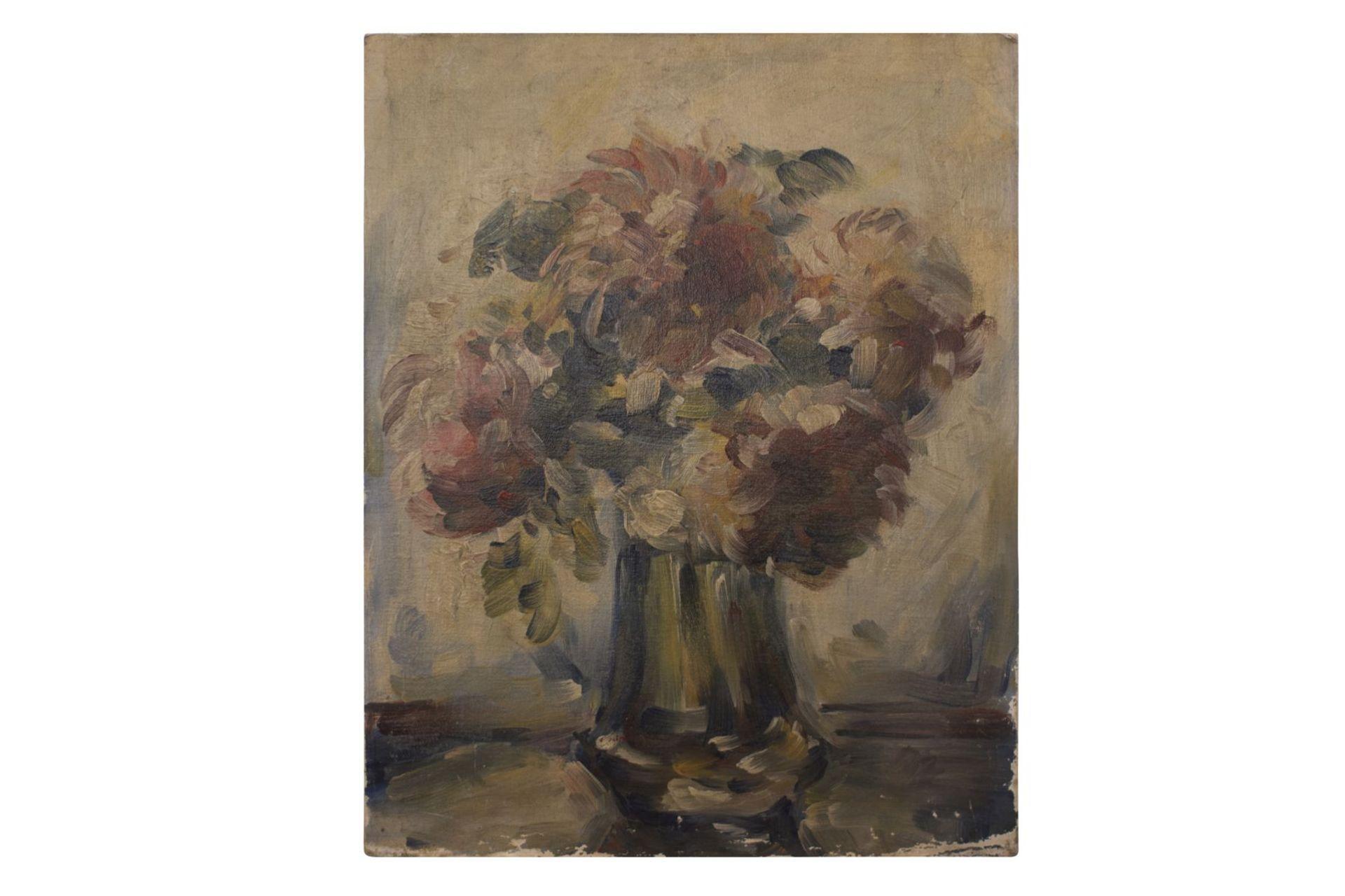 "Painter around 1920 ""Flowers in vase"" - Image 5 of 5"