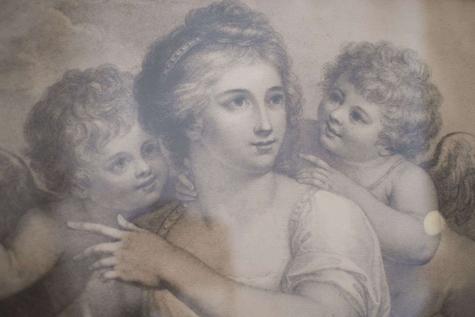 "Artist of the 18th century ""Lady with two lovers"" - Image 2 of 5"