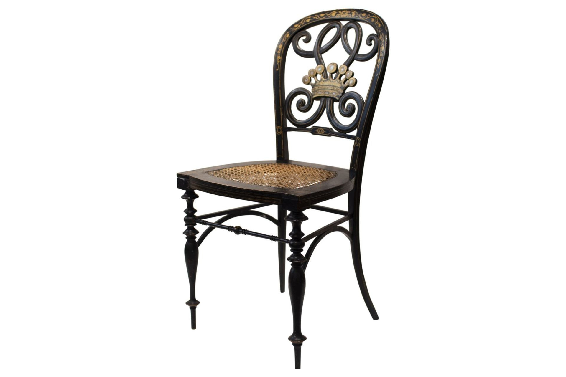 Decorative chair, French Chinoiserie - Image 7 of 7