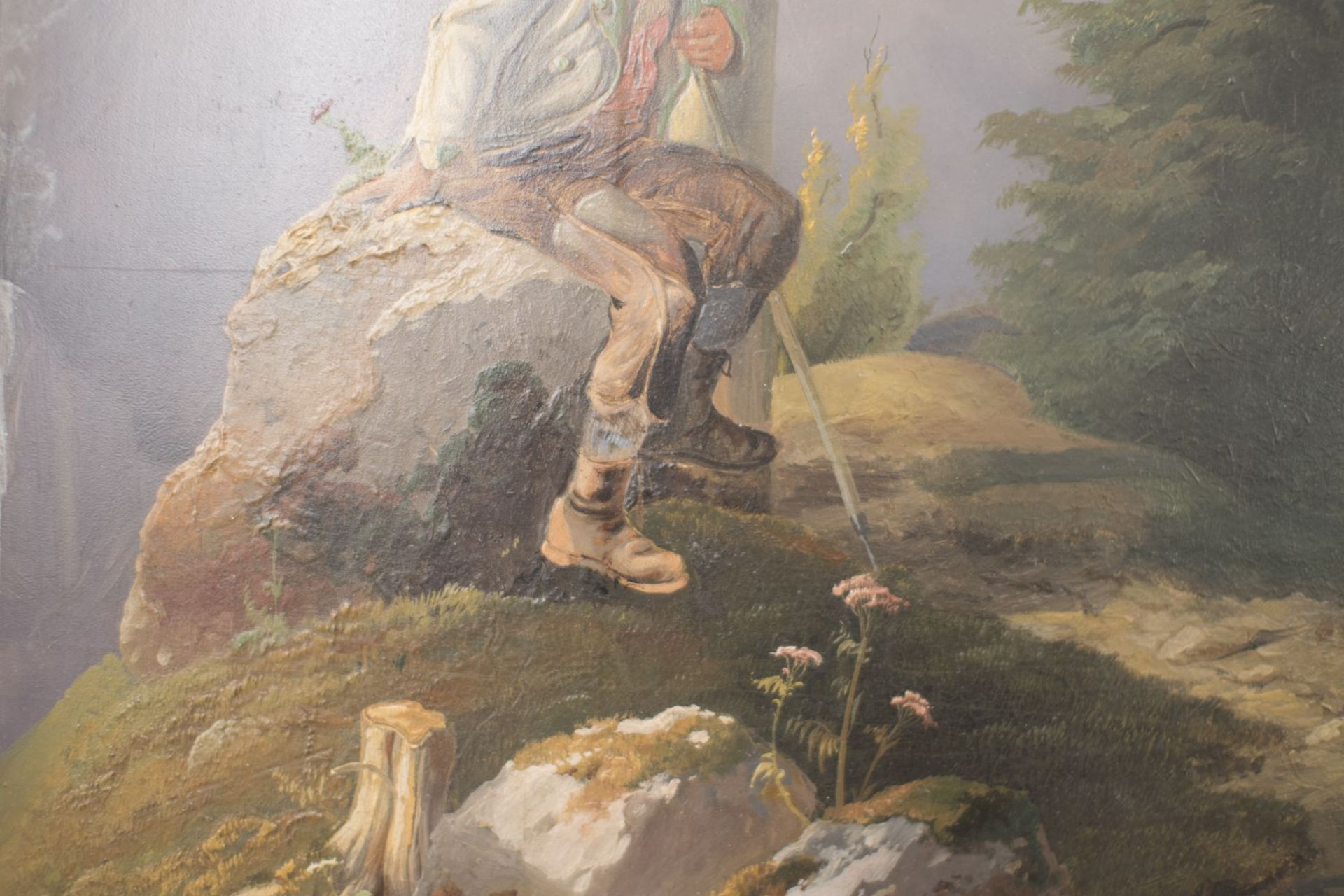 """Painter from the circle Friedrich Gauermann """"Hunter in the high mountains"""" - Image 7 of 9"""