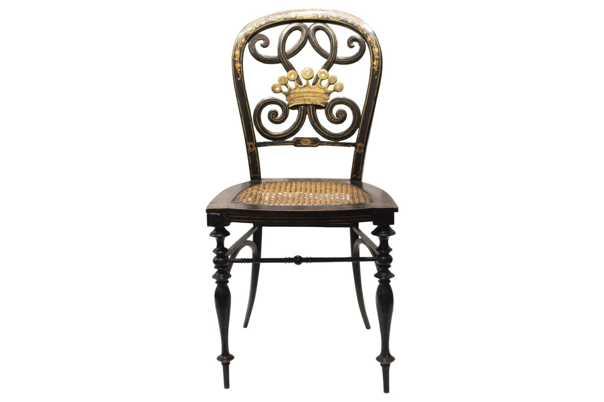 Decorative chair, French Chinoiserie - Image 6 of 7