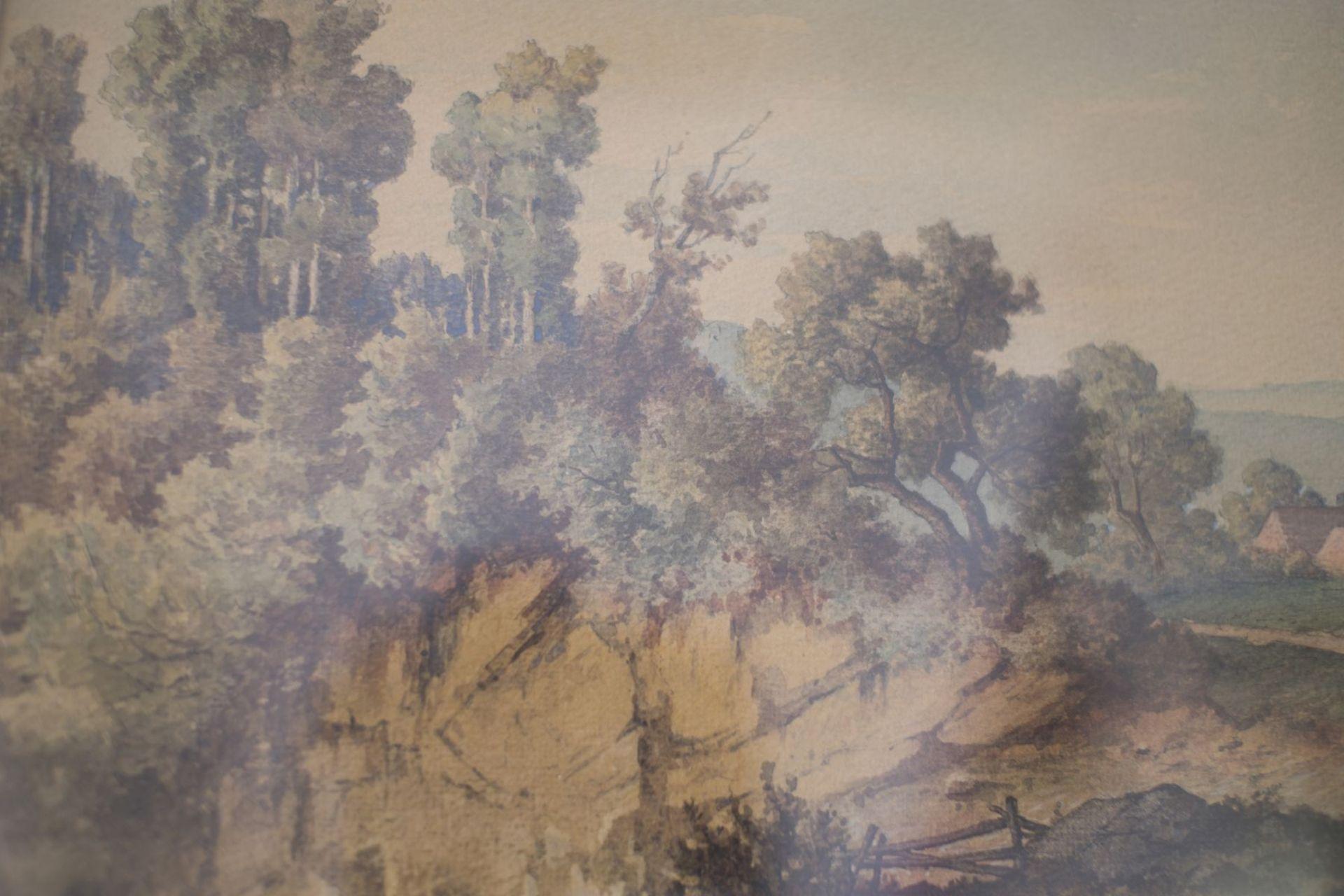 "Jost Anton Muheim (1837-1919) "" Craggy Landscape "" - Image 2 of 4"