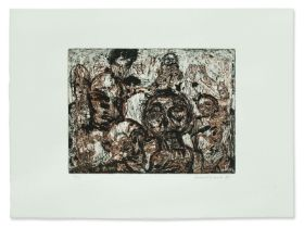 Norbert Eberle, Color Etching of Heads, Germany, 1990