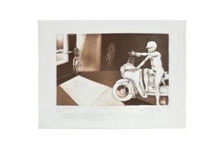 """Dandy Matouschek """"Motorcyclist"""""""