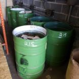 6 ct. 55 gallon drums with Large Assortment of Spring Stock Inventory