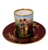 Franz Dorfl | Wiener Porzellan Cup & Saucer
