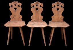 Biedermeier | 3 Chairs | Bauernsesseln