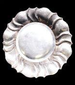 Silver Planished Art/Deco Bowl 800 Silver Ø 28cm