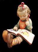 Large Early Goebel | Girl Reading Book