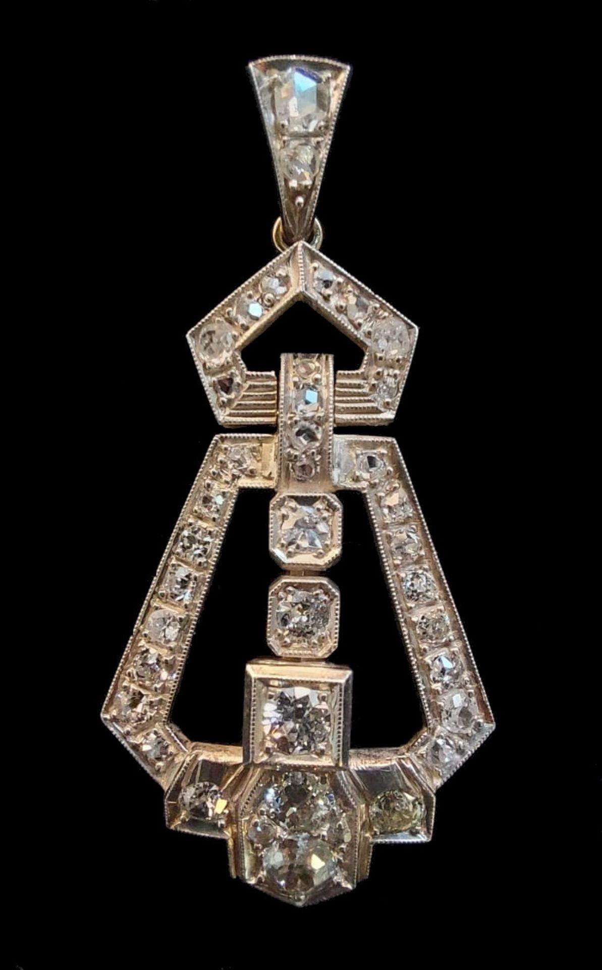 Diamond Pendant | Art - Deco - Image 4 of 5
