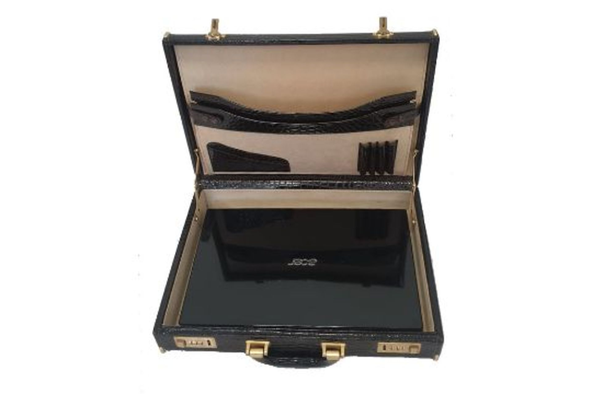 Crocodile Leather   Briefcase - Image 5 of 5