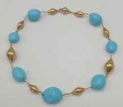 Turquoise | 14K Gold Necklace