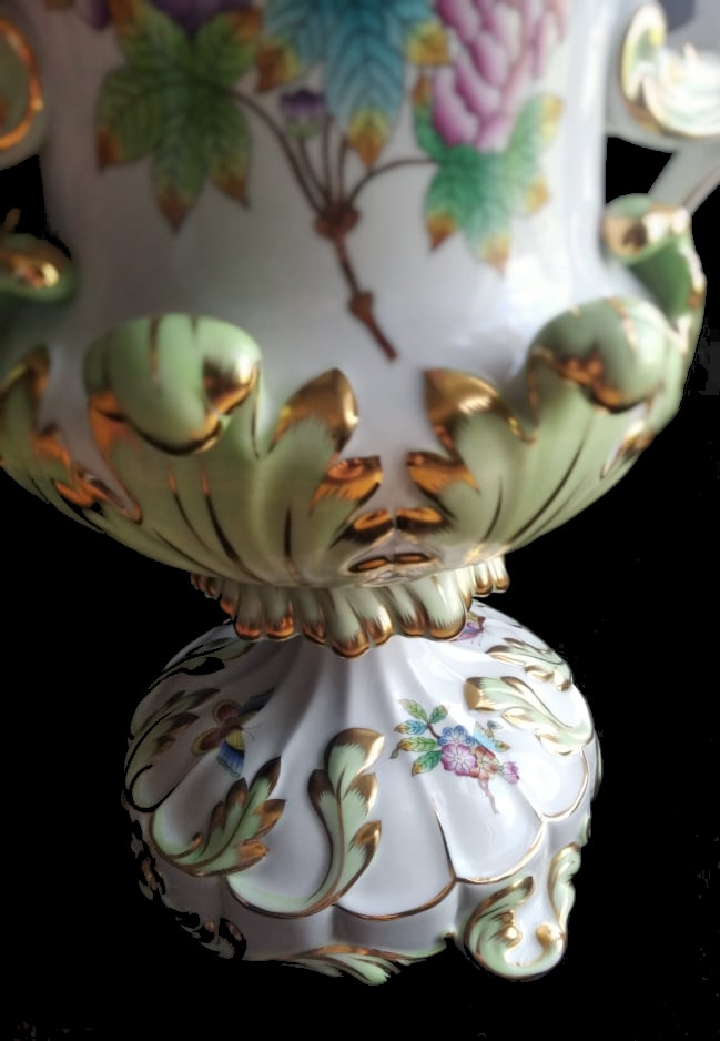 Herend   Monumental Vase   Victoria - Image 6 of 7