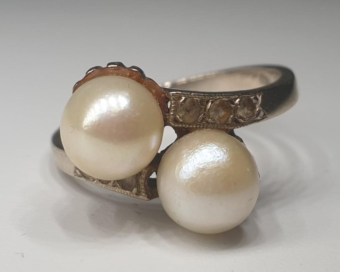 Akoya Pearls | Diamond | 14K Gold - Image 4 of 5