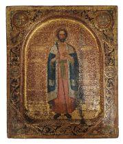 Russian Icon   St. Boris   19th Century