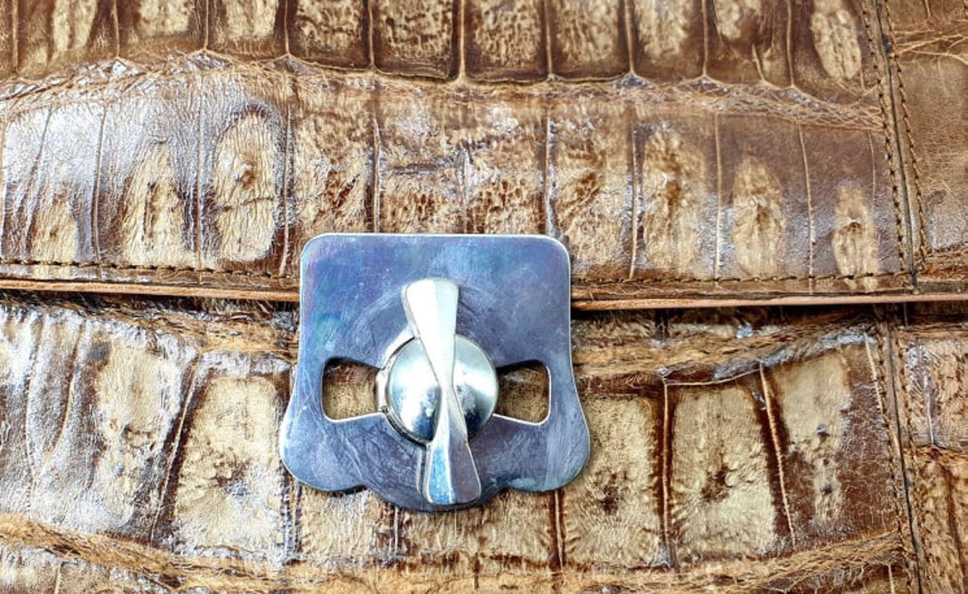 Brown Croco Handbag - Bild 4 aus 8
