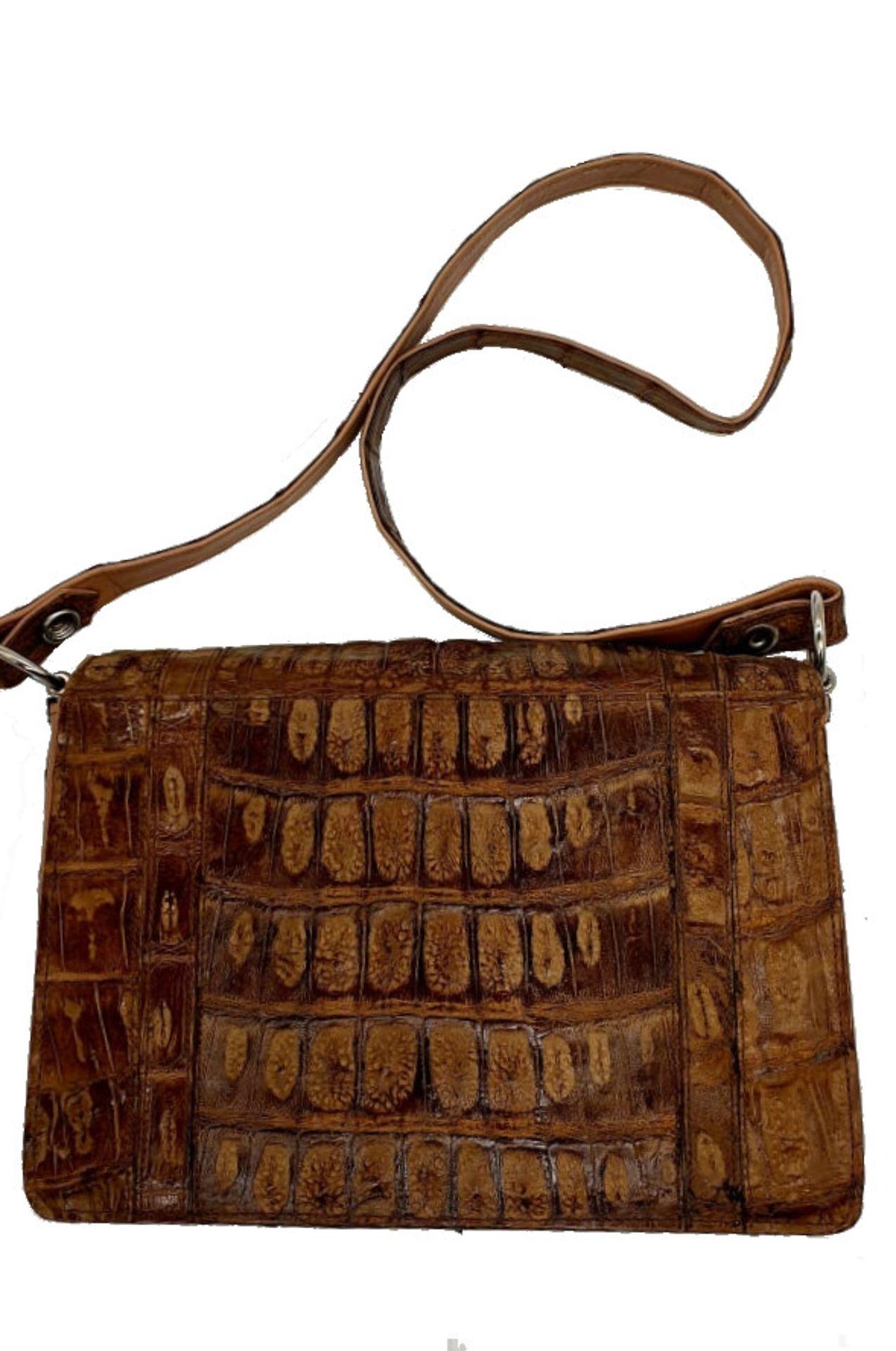 Brown Croco Handbag - Bild 6 aus 8