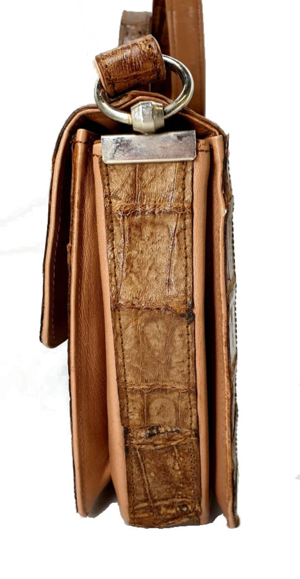 Brown Croco Handbag - Bild 8 aus 8