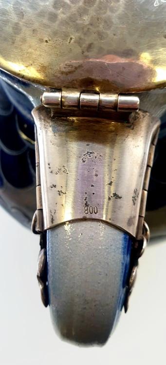 Salt Glazed Jug | 800 Silver Lid - Image 3 of 8
