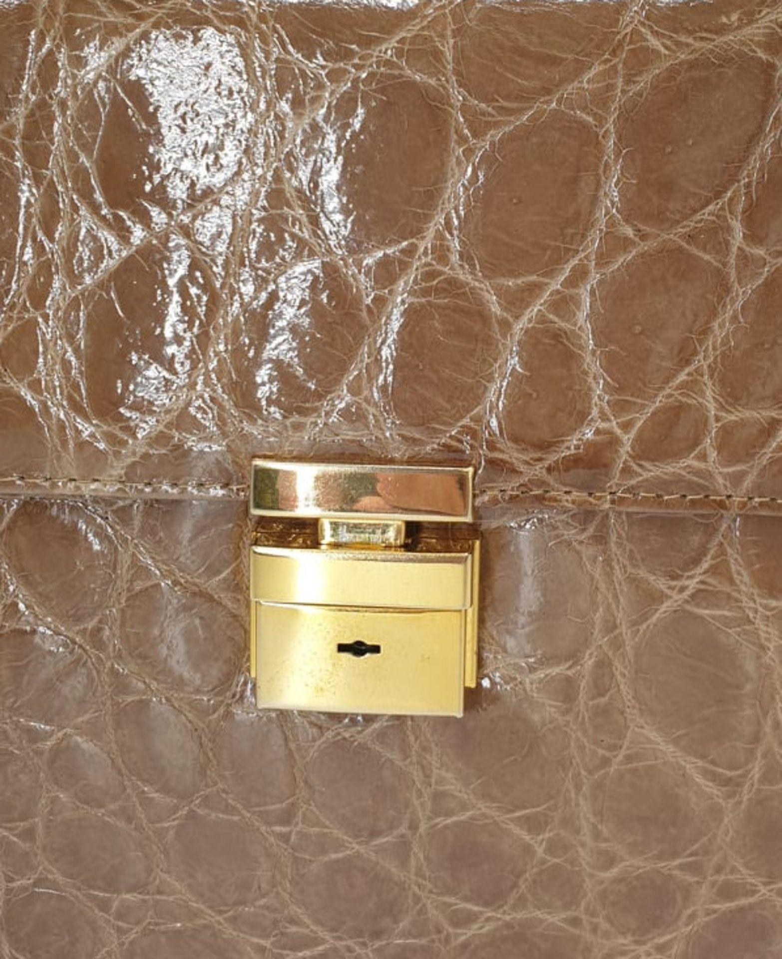Crocodile Handbag | Brown - Image 9 of 9