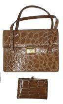 Crocodile Handbag | Brown