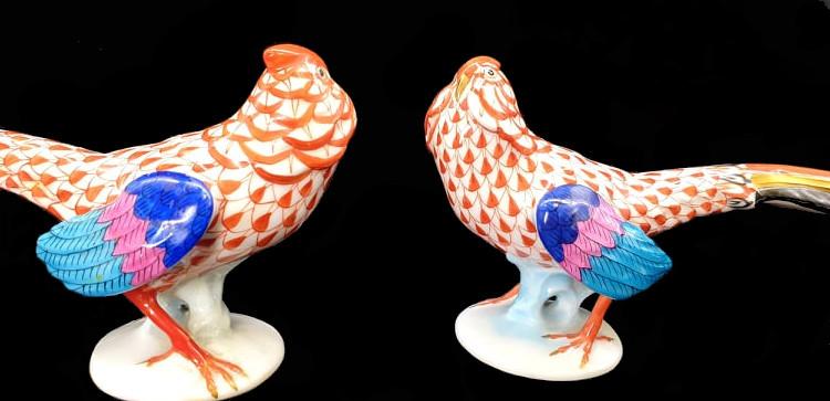 Herend   2x Pheasants   Fishnet - Image 5 of 7