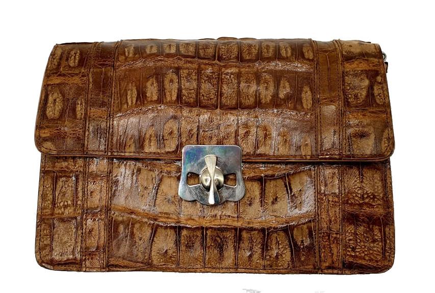 Brown Croco Handbag - Image 2 of 8