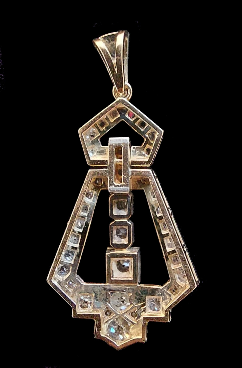 Diamond Pendant   Art - Deco - Image 3 of 5