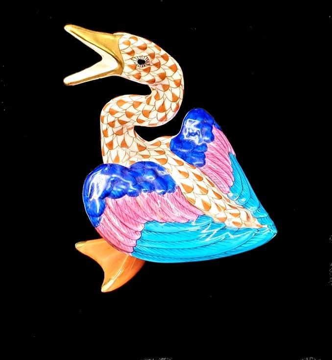 Herend  Pair of Geese - Image 3 of 4