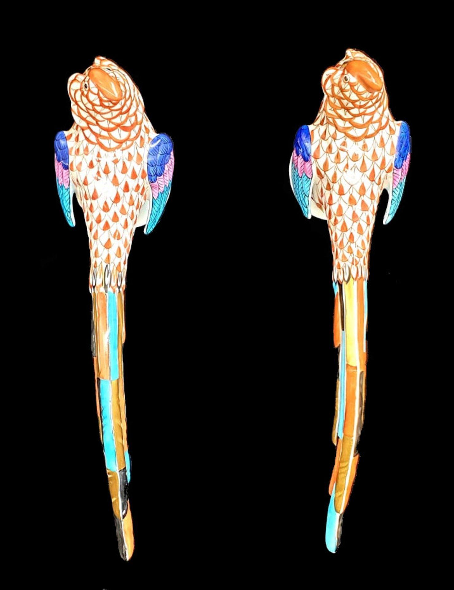 Herend   2x Pheasants   Fishnet - Image 3 of 7