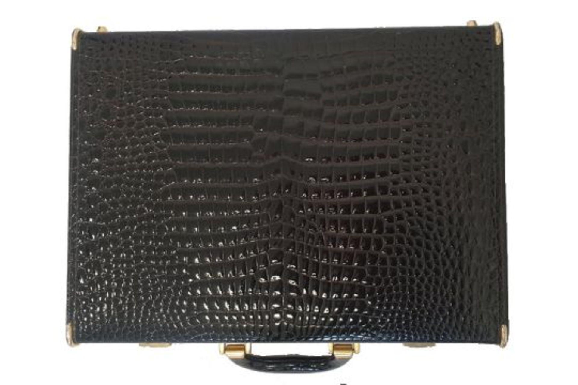 Crocodile Leather   Briefcase - Image 3 of 5