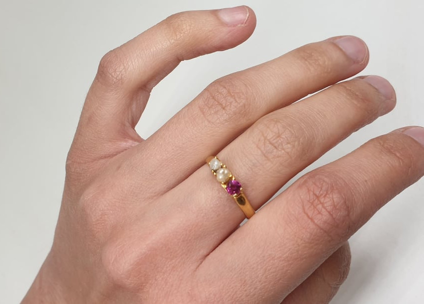 Ring | Ruby & Pearl | 18ct - Image 4 of 4