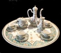 Zsolnay Pecs   Coffee Set   18 Pieces