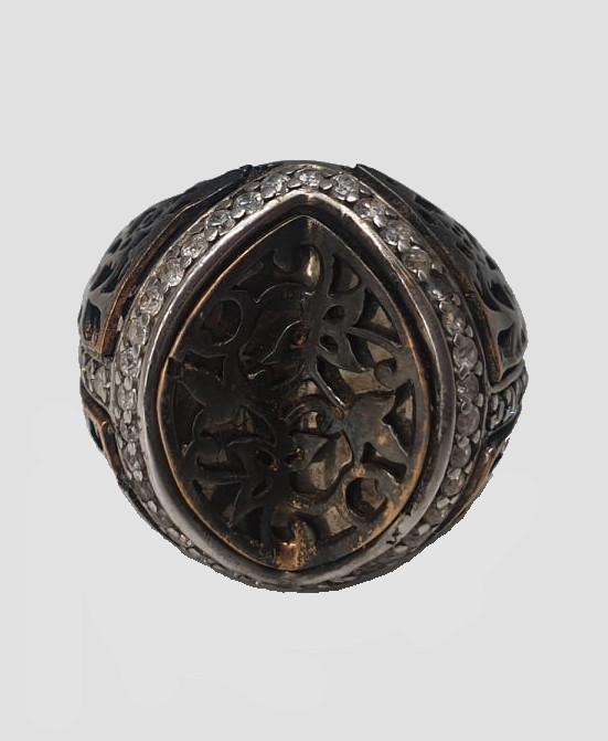2x Silver Rings   Rose Quarz - Image 5 of 7