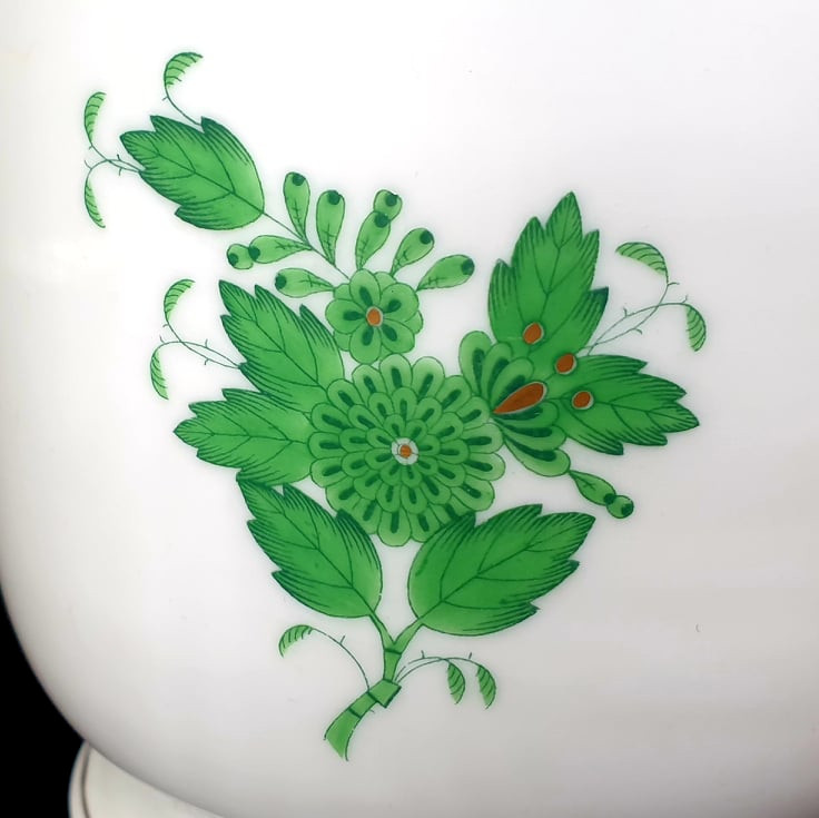 Herend   Apponyi Green   Cache Pot - Image 4 of 6