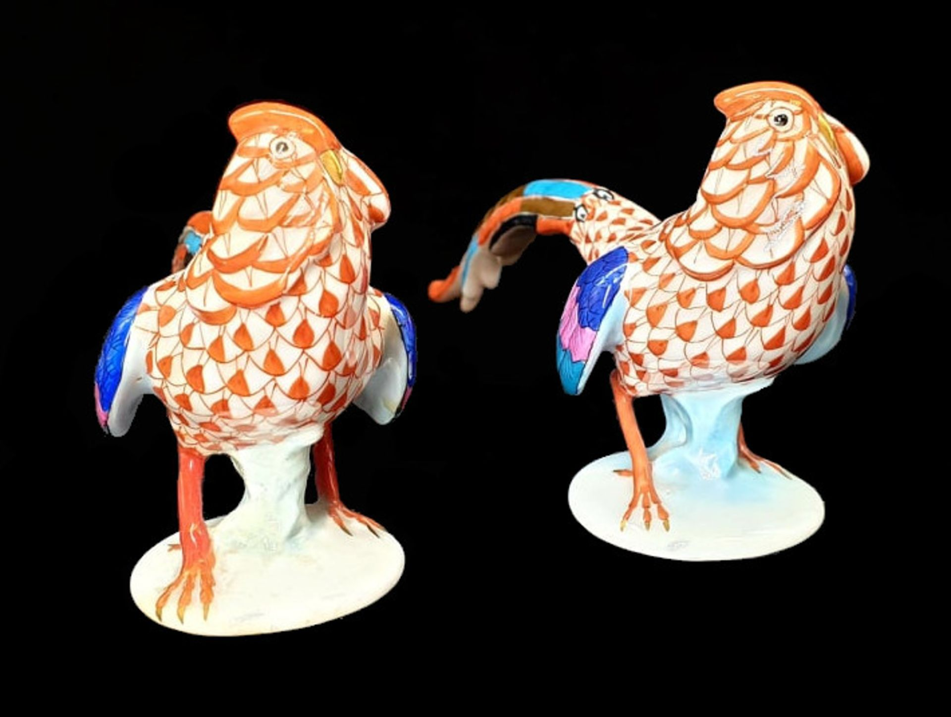 Herend   2x Pheasants   Fishnet - Image 4 of 7
