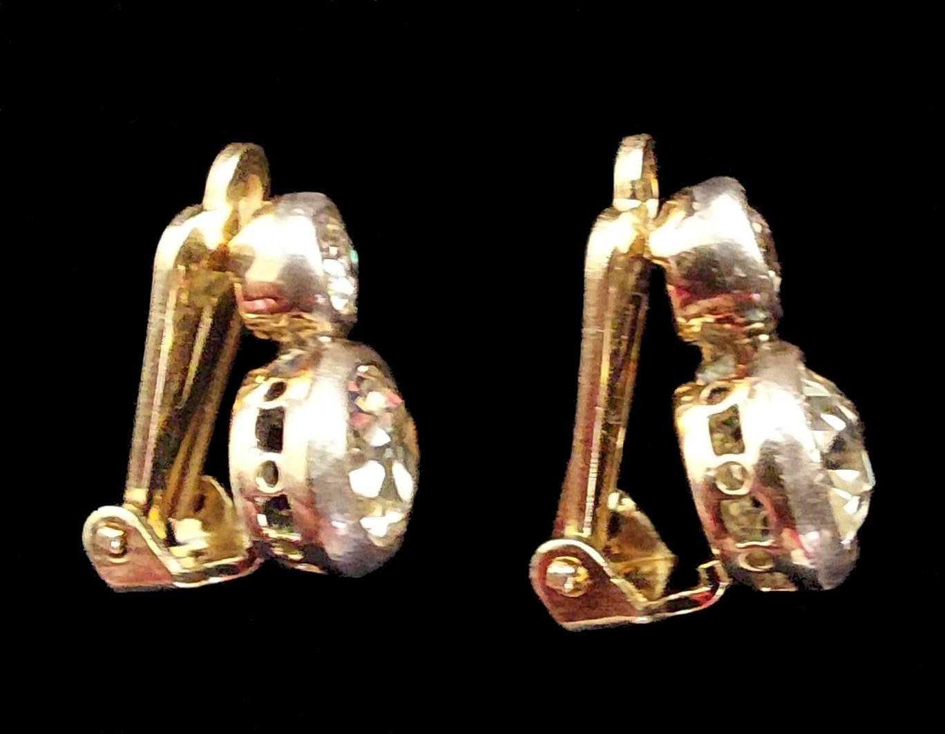 Peruzzi Cut | Diamond | Clip Earrings | 4ct - Image 4 of 5