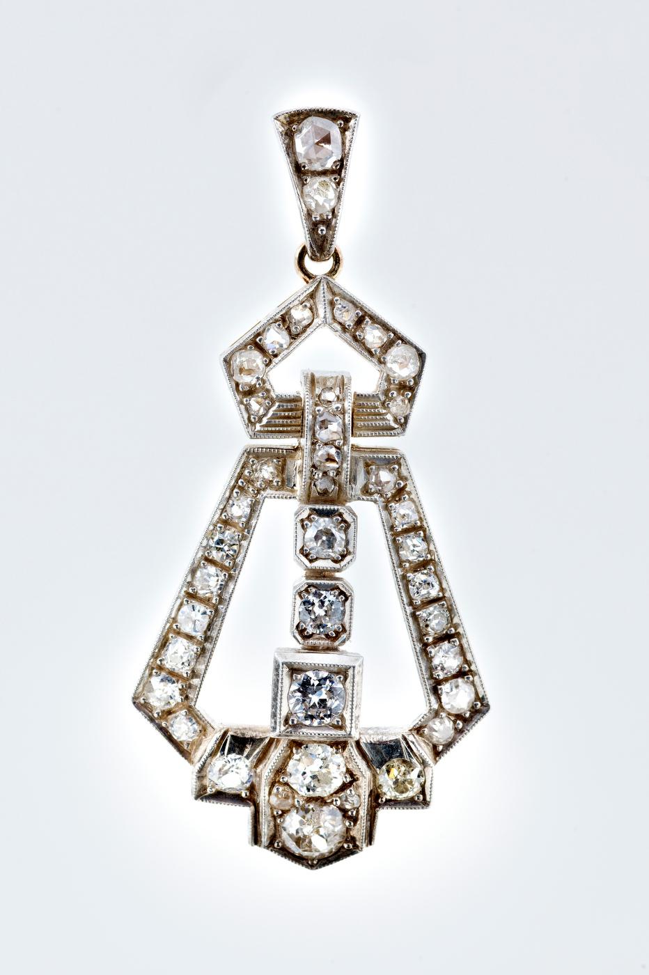 Diamond Pendant   Art - Deco - Image 2 of 5