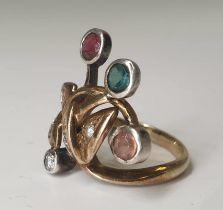4 Stone Ring | 14K (585) Gold