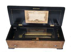 Cylinder Music Box   19th Century
