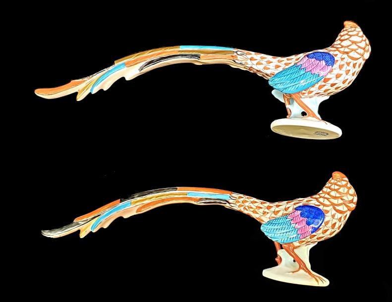 Herend   2x Pheasants   Fishnet - Image 2 of 7