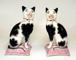 Victorian Staffordshire | Cat Bookends