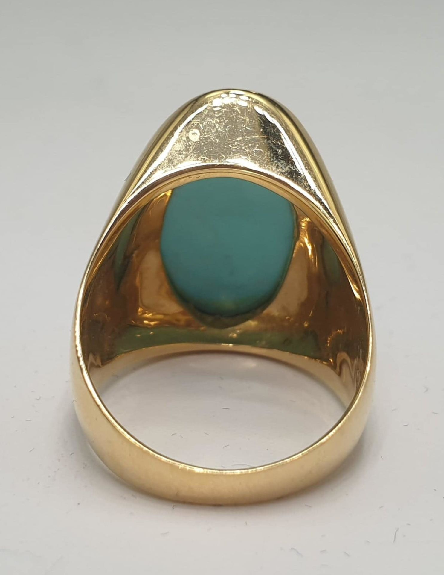 Ring & Ear Clips | Turquoise | 750 (18k) Gold - Image 3 of 6
