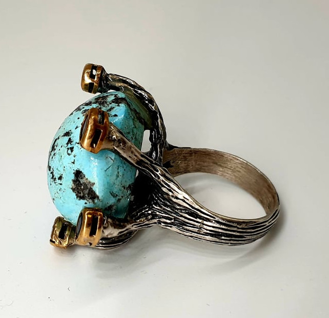 Silver Ring   Turquoise - Image 2 of 4