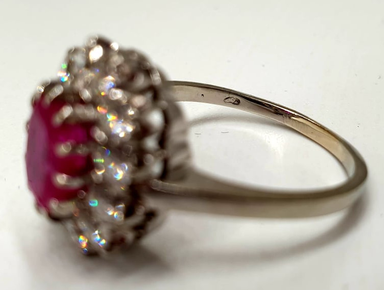 Ring | Diamond & Ruby | 14K - Image 4 of 4