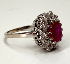 Ring | Diamond & Ruby | 14K