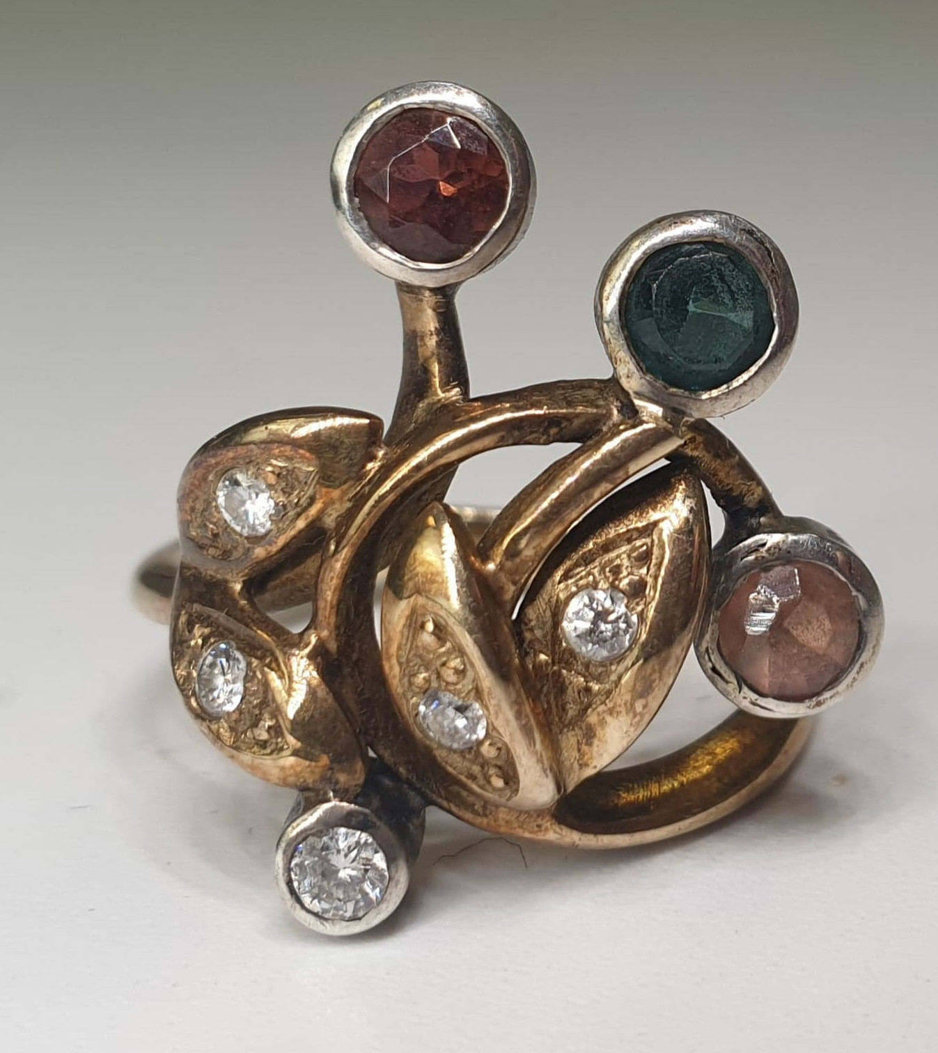 4 Stone Ring | 14K (585) Gold - Image 5 of 6