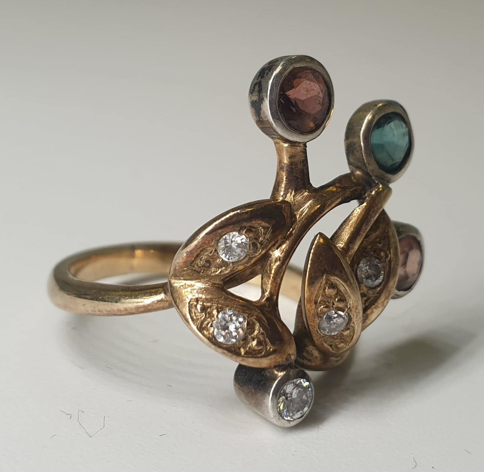 4 Stone Ring | 14K (585) Gold - Image 6 of 6