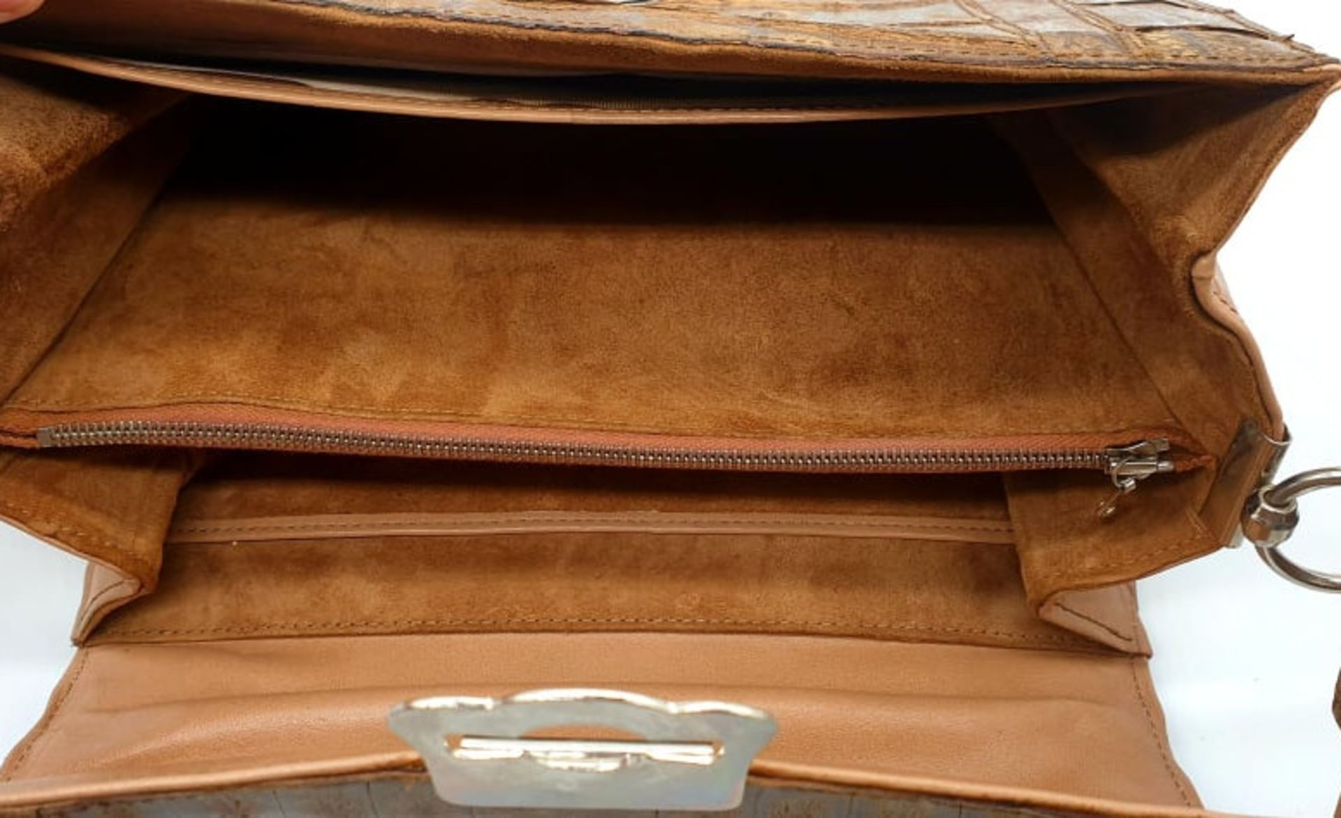 Brown Croco Handbag - Bild 7 aus 8