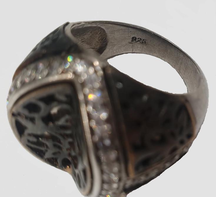 2x Silver Rings   Rose Quarz - Image 3 of 7